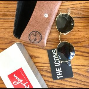Ray-Ban Round Gold Frame Green Lens